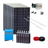 Kits Solares para aisladas con baterias