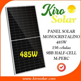 Placa solar monocristalina Kiro Solar 485W/24V M-PERC 156 células