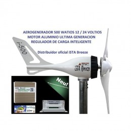Aerogenerador iSTA Breeze i-500 12V/500W con regulador 500W